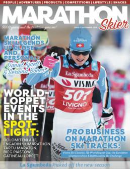 marathonskier webmagazine layout taitto