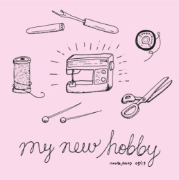 my new hobby kuvitus illustration