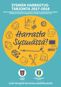 harrasta sysmassa esite illustration