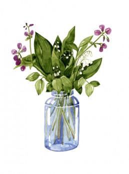 vesivari kuvitus kukka luonnonkukka